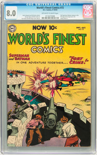 World's Finest Comics #72 (DC, 1954) CGC VF 8.0 Off-white to white pages