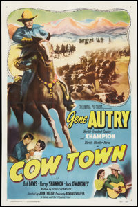 "Cow Town (Columbia, 1950). One Sheet (27"" X 41""). Western"
