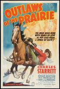 "Movie Posters:Western, Outlaws of the Prairie (Columbia, 1937). One Sheet (27"" X 41""). Western.. ..."