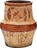 Antiques:Antiquities, Maya Vessel with Carved Figures...