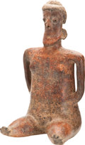 Antiques:Antiquities, Seated Female Figure...