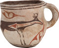 American Indian Art:Pottery, A ZUNI POLYCHROME MUG. c. 1920...