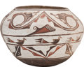 American Indian Art:Pottery, A ZUNI POLYCHROME JAR. c. 1920...