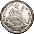Proof Seated Half Dimes, 1871 H10C PR67 Cameo NGC. CAC....