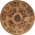American Indian Art:Baskets, A PIMA COILED BOWL. c. 1920...