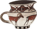American Indian Art:Pottery, AN UNUSUAL ZUNI POLYCHROME PITCHER. c. 1900...
