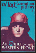 "Movie Posters:Academy Award Winners, All Quiet on the Western Front (Universal, 1930). Herald (3.5"" X5.5""). Academy Award Winners.. ..."