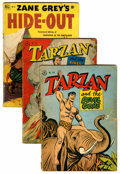 Golden Age (1938-1955):Cartoon Character, Four Color/Tarzan Group (Dell, 1947-55) Condition: Average GD....(Total: 27 Comic Books)