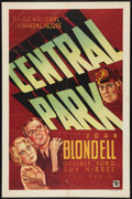"Movie Posters:Crime, Central Park (Warner Brothers - First National, 1932). One Sheet(27"" X 41""). Crime.. ..."