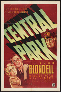 "Central Park (Warner Brothers - First National, 1932). One Sheet (27"" X 41""). Crime"