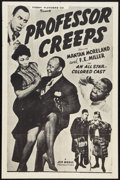 "Movie Posters:Black Films, Professor Creeps (Toddy Pictures, R-1950s). One Sheet (27"" X 41"").Black Films.. ..."