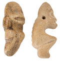 Antiques:Antiquities, Two Small Bone Figures... (Total: 2 Items)