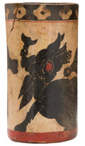 Antiques:Antiquities, Maya Cylinder Vessel with Mythical Beast...