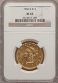 Liberty Eagles, 1856-S $10 XF45 NGC....