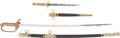 Military & Patriotic:WWII, Japanese WWII Officer's Kyu Gunto Sword and Imperial Japanese Navy Dirk.... (Total: 2 Items)