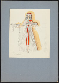 """""""The Egyptian"""" Charles LeMaire Costume Design Lot (20th Century Fox, 1954). Costume and Star Portrait Sketches..."""
