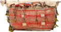 American Indian Art:Beadwork and Quillwork, A SIOUX QUILLED AND BEADED HIDE TIPI BAG. c. 1880...
