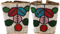 American Indian Art:Beadwork and Quillwork, A PAIR OF PLATEAU BEADED HIDE CUFFS. c. 1920 ... (Total: 2 Items)