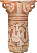 Antiques:Antiquities, Marajo Monumental Red and White Urn...