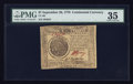 Colonial Notes:Continental Congress Issues, Continental Currency September 26, 1778 $7 PMG Choice Very Fine35.. ...