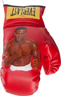 Boxing Collectibles:Autographs, Evander Holyfield Signed, Painted Glove....