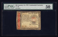 Colonial Notes:Continental Congress Issues, Continental Currency January 14, 1779 $65 PMG About Uncirculated50.. ...