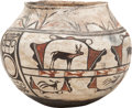 American Indian Art:Pottery, A ZUNI POLYCHROME JAR. c. 1920. ...
