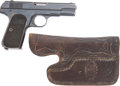 Military & Patriotic:WWI, Colt M1903 Hammerless .32 Cal. Automatic Pistol with Unique Custom Holster #200584 Mfg. 1916....