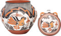 American Indian Art:Pipes, Tools, and Weapons, TWO ACOMA POLYCHROME POTTERY VESSELS . Maria Lilly Salvadore...(Total: 2 Items)
