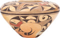 American Indian Art:Pottery, A HOPI POLYCHROME JAR . Verna Nahee...