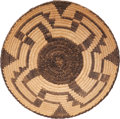 American Indian Art:Baskets, A PIMA/PAPAGO COILED TRAY...