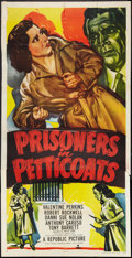 "Movie Posters:Exploitation, Prisoners in Petticoats (Republic, 1950). Three Sheet (41"" X 81"").Exploitation.. ..."