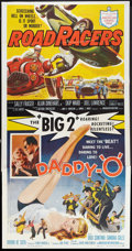 "Movie Posters:Action, Daddy ""O"" / RoadRacers Combo (American International, 1959). Three Sheet (41"" X 81""). Action.. ..."