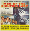 """Movie Posters:War, Men of the Fighting Lady (MGM, 1954). Six Sheet (81"""" X 81""""). War....."""