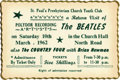 Music Memorabilia:Tickets, Beatles St. Paul's Concert Ticket. A ticket for the Beatles' March10, 1962, return performance at St. Paul's Presbyterian C...(Total: 1 Item)