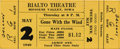 "Movie/TV Memorabilia:Tickets, ""Gone With the Wind"" Unused Ticket, 1940. An unused ticket for theMay 2, 1940, evening performance of Gone With the Wind...(Total: 1 Item)"