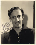 "Movie/TV Memorabilia:Autographs and Signed Items, Basil Rathbone Signed Photo to Donnie Dunagan. A b&w 8"" x 10"" dashingly handsome headshot of Basil Rathbone, who forever wo... (Total: 1 Item)"