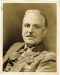 """Movie/TV Memorabilia:Autographs and Signed Items, Frank Morgan Signed Photo. A b&w 8"""" x10"""" publicity still of actor Frank Morgan (the titular Wizard of Oz), inscribed and... (Total: 1 Item)"""