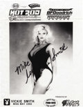 """Movie/TV Memorabilia:Autographs and Signed Items, Anna Nicole Smith Signed Leaflet. An 8"""" x 10"""" leaflet for the HotRod Supernationals in Youngstown, Ohio, circa 1993-94, fea...(Total: 1 Item)"""