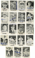 Autographs:Sports Cards, Baseball Stars Renata Galasso Signed Cards Group Lot of 19. TonyCuccinello's signed Renata Galasso card is joined here by ...
