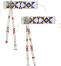American Indian Art:Beadwork and Quillwork, A PAIR OF PLAINS BEADED HIDE ARMBANDS. c. 1930... (Total: 2 Items)