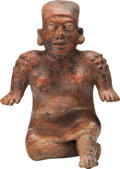 Antiques:Antiquities, Colima Seated Female Figure...