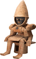 Antiques:Antiquities, Veracruz Judge Seated on a Bench...