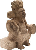Antiques:Antiquities, Stone Chac Seated on a Bench...