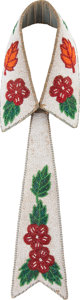 American Indian Art:Beadwork and Quillwork, A NORTHERN PLAINS BEADED HIDE COLLAR AND TIE. c. 1930...