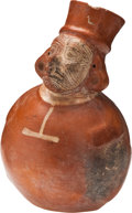 Antiques:Antiquities, Vicus Figural Vessel with Animal Face...