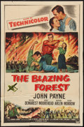 "Movie Posters:Adventure, The Blazing Forest Lot (Paramount, 1952). One Sheet (27"" X 41""),and Insert (14"" X 36""). Adventure.. ... (Total: 2 Items)"