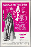 "Movie Posters:Horror, Spirits of the Dead Lot (American International, 1969). One Sheet (1) (27"" X 41""), and Spanish Language One Sheet (27"" x 47""... (Total: 2 Items)"