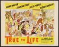 "Movie Posters:Comedy, True to Life (Paramount, 1943). Half Sheet (22"" X 28""). Comedy....."