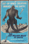 "Movie Posters:Science Fiction, 20 Million Miles to Earth (Columbia, 1957). Poster (40"" X 60"").Science Fiction.. ..."
